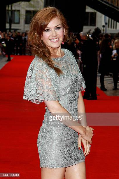 Isla Fisher the wife of Sacha Baron Cohen attends the World Premiere of 'The Dictator' at The Royal Festival Hall on May 10 2012 in London England