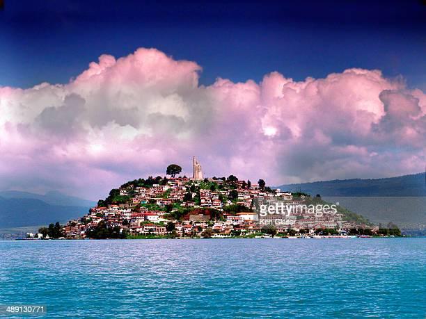 Isla Janitzio Mexico from across lake