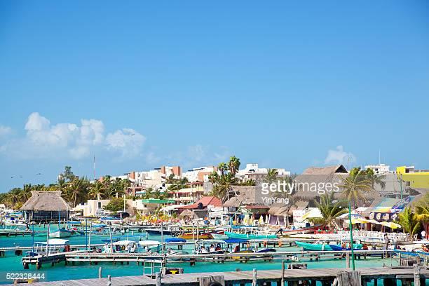 Isla Mujeres Island Boat Harbor, Tourist Destination near Cancun, Mexico