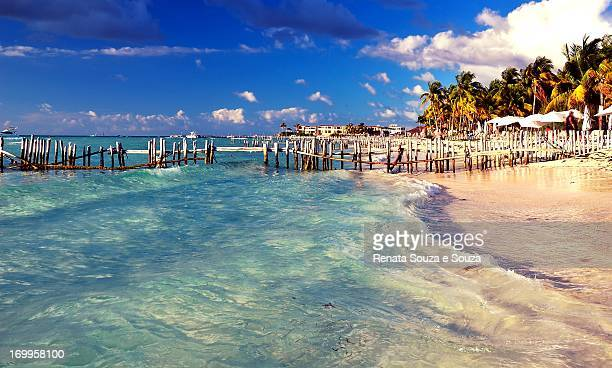 isla mujeres  - playa del norte - isla mujeres stock pictures, royalty-free photos & images