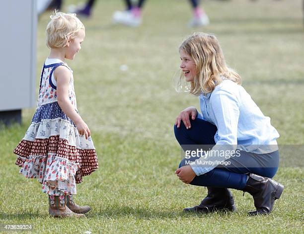 Isla Phillips and Lady Louise Windsor attend day 4 of the Royal Windsor Horse Show in Home Park on May 16 2015 in Windsor England