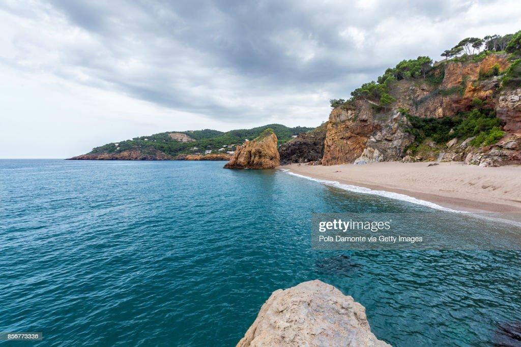 Isla Roja Beach In Costa Brava Girona Spain Stock Photo