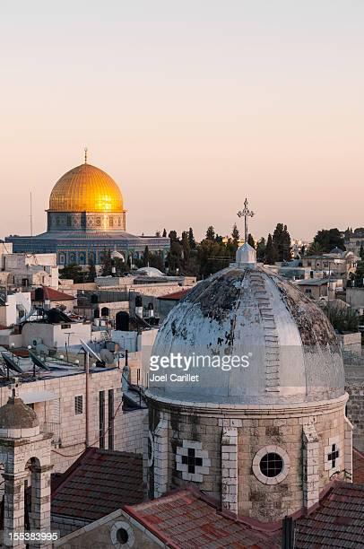 Islam und Christentum in die Altstadt von Jerusalem