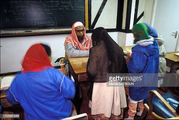Islam in Birmingham United Kingdom Koran classes in the evening after school at the Mosque of the quarter