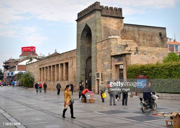islam in china - 11th century qingjing ashab mosque of early muslim community in quanzhou, fujian, china - vogel stock pictures, royalty-free photos & images
