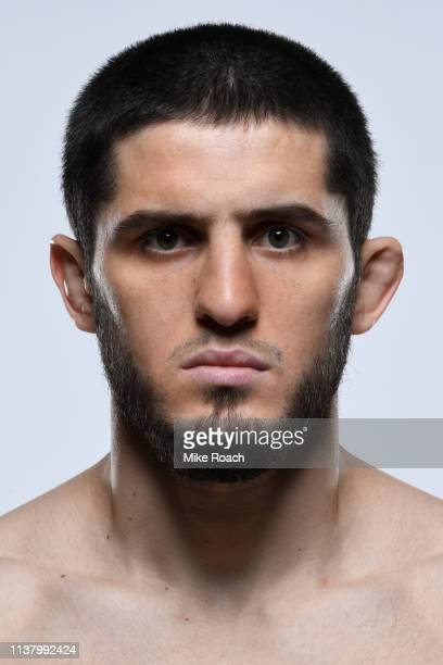 Islam Makhachev of Russia poses for a portrait during a UFC photo session on April 17 2019 in Saint Petersburg Russia