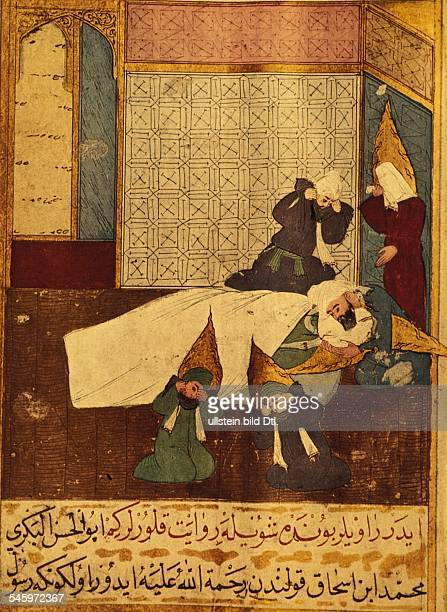Islam Mohammed Mohammed *around 5700806632 Prophet founder of Islam Death of the Prophet His fatherinlaw and successor Abu Bakr is bending over him...