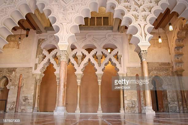 islam monument zaragoza aragon saragossa basque country spain - zaragoza province stock pictures, royalty-free photos & images