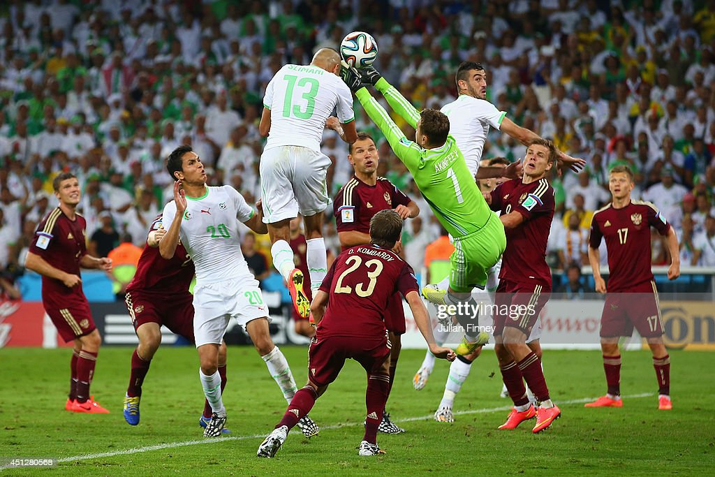 Algeria v Russia: Group H - 2014 FIFA World Cup Brazil : News Photo