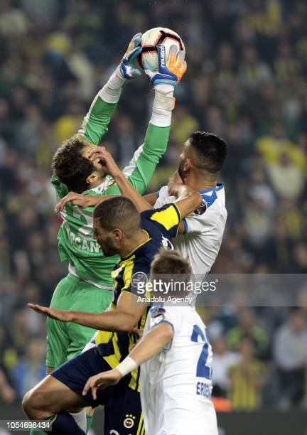 Islam Slimani of Fenerbahce in action during a Turkish Super Lig soccer match between Fenerbahce and MKE Ankaragucu at Ulker Stadium in Istanbul...