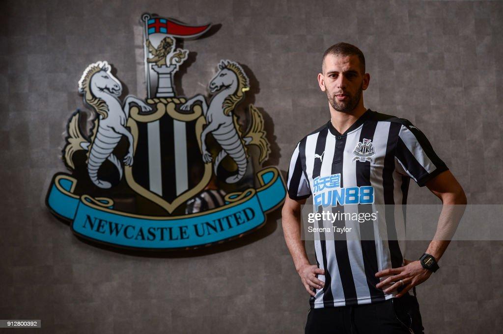 Newcastle United Unveil New Loan Signing  Islam Slimani : News Photo