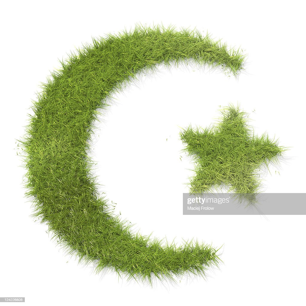 Islam Symbol Made Of Grass Stock Photo Getty Images