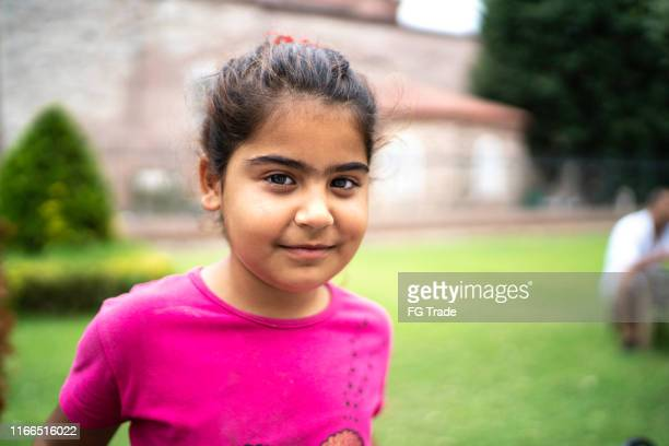 islam syrian child girl portrait - syria stock pictures, royalty-free photos & images