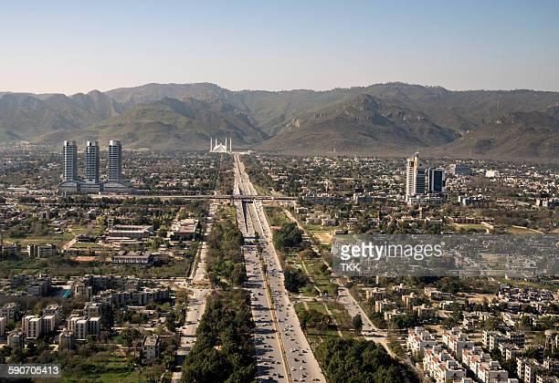 islamabad aerial view - イスラマバード ストックフォトと画像