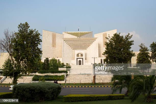 Islamabad, Pakistan, 24 September 2018. A view of the Supreme Court of Pakistan. The Supreme Court of Pakistan is the court that heads the Pakistani...