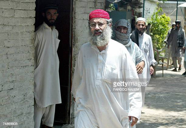 Abdul Rashid Ghazi one of two brothers who head the Red Mosque stands in front of a room of the Jamia Hafsa seminary where nine people including six...