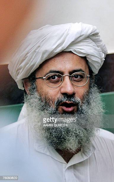 In this picture taken 23 June 2007 Pakistani cleric and deputy leader of the Lal Masjid Abdul Rashid Ghazi addresses a press conference in Islamabad...