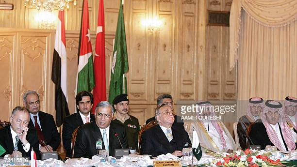 Pakistani Prime Minister Shaukat Aziz addresses the delegates as Foreign Minister of Saudi Arabia Prince Saud Al Faisal Organisation of Islamic...