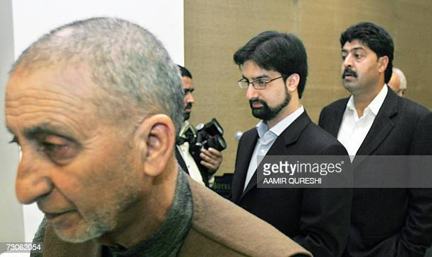 The leaders of Indian Kashmir's main separatist alliance The All Parties Hurriyat Conference Mirwaiz Umar Farooq Bilal Ghani Loan and Abdul Ghani...