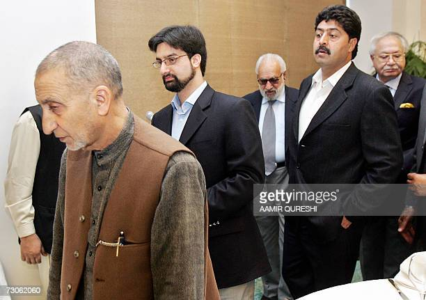 The leaders of Indianadministered Kashmir's main separatist alliance The All Parties Hurriyat Conference Mirwaiz Umar Farooq Bilal Ghani Loan and...