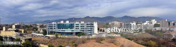 Islamabad skyline, Pakistan (International Labour Organization, Engineering Council, National Telecommunication Corporation Headquarters, Federal Board of Revenue, Federal Ombudsman, Auditor General, President House, Federal Shariat Court, Supreme Court,