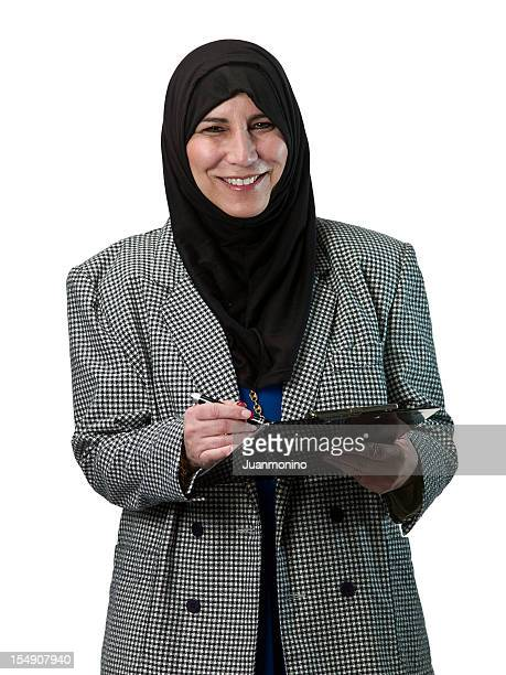 islamic business woman - iranian culture stock photos and pictures