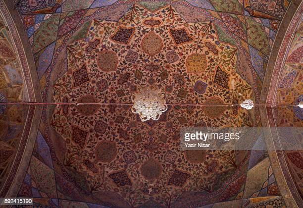 Islamic calligraphy at Wazir Khan Mosque Lahore, Pakistan