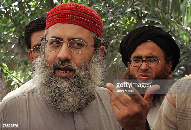 Islamic cleric Abdul Rashid Ghazi gives a press conference April 16 2007 at the Lal Mosque in Islamabad Pakistan He said that a Pakistani military...