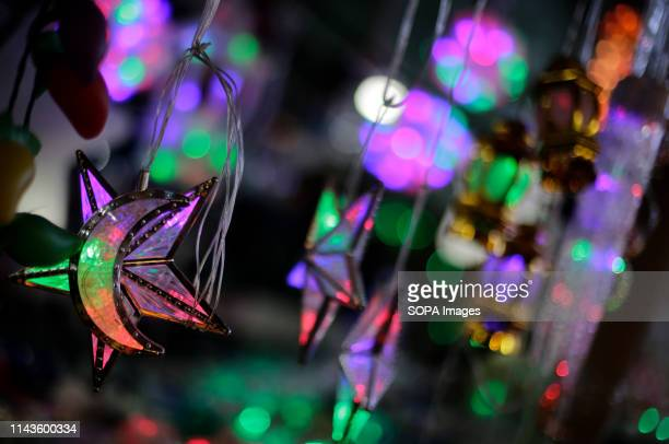 Islamic decorations seen in the market during the holy month of Ramadan in Gaza City. Muslims around the world celebrate the holy month of Ramadan by...