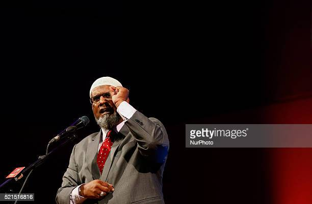 Islamic preacher Kamarudin Abdullah deliver his speaks during public talk at University Science of Malaysia George Town on April 15 2016