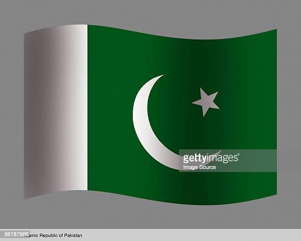 islamic republic of pakistan - pakistani flag stock photos and pictures