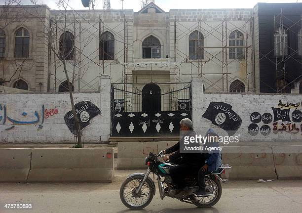 Islamic State of Iraq and Damascus withdraw from Azaz town of Aleppo completely on February 272014 in Aleppo Syria ISID hand been holding the town...