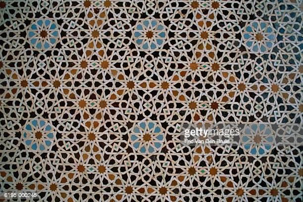 islamic tile pattern - eric van den brulle foto e immagini stock