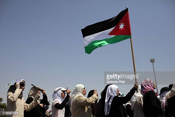 Islamist women participate in an antigovernment rally on July 8 2011 in Amman Jordan While the protests in Jordan have been small by compassion to...