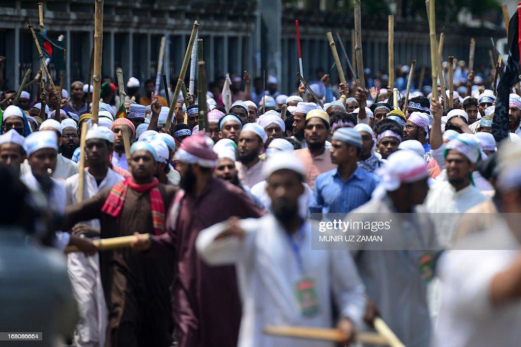 BANGLADESH-POLITICS-UNREST-RELIGION-BLASPHEMY : News Photo