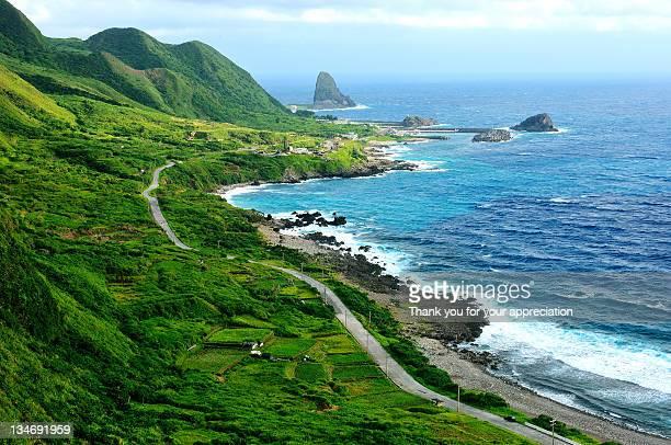 island coast - taiwan stockfoto's en -beelden