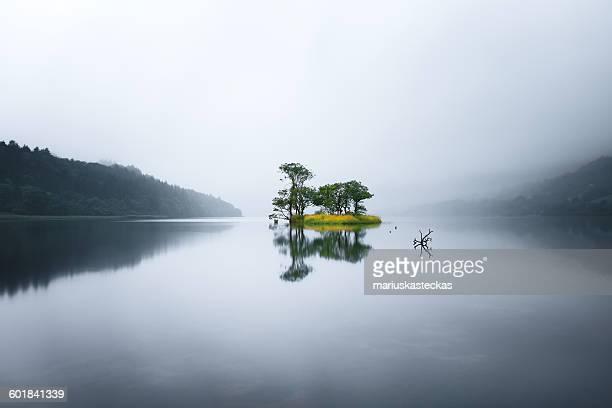 Island in a lake surrounded by mountains, Sligo, Ireland
