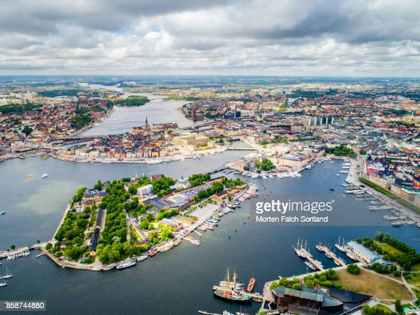 island life in the north - stockholm stock pictures, royalty-free photos & images