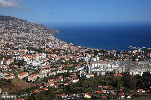 Island Madeira Funchal west look of Sao Martinho on the city of Funchal and the sea