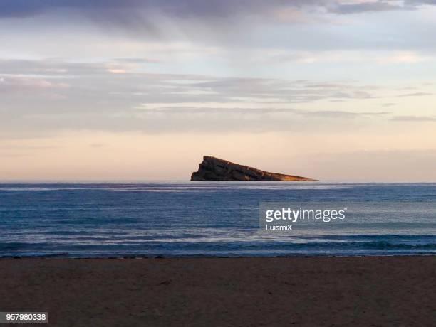 island of benidorm - benidorm foto e immagini stock