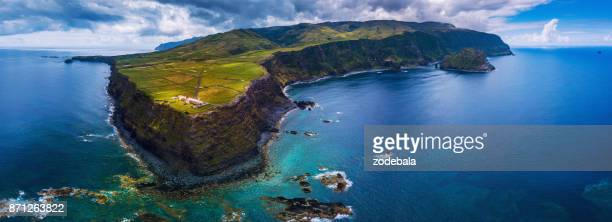 island of flores in the azores - madeira stock photos and pictures