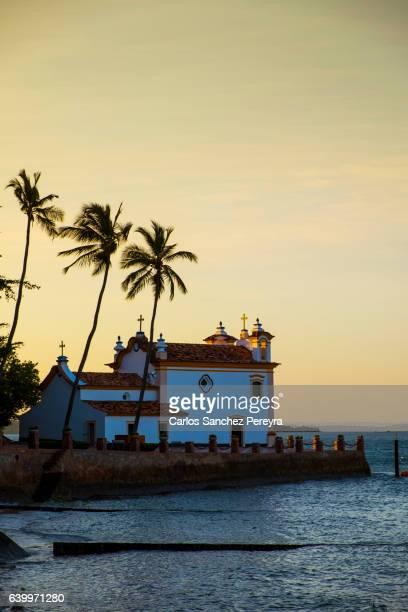 Island of Frades in Baia de Todos los Santos bay in Salvador do Bahia