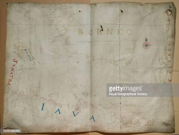 Island of Java and parts of Borneo Celebes and Sumatra [Blaeu] [1670] Scale 11 000 Indonesia