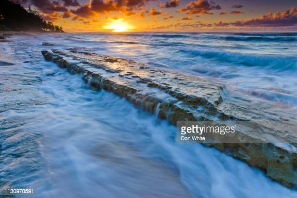 island of kauai in hawaii - category:census-designated_places_in_honolulu_county,_hawaii stock pictures, royalty-free photos & images