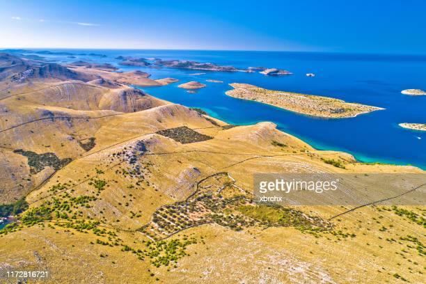 island kornat stone desert archipelaho aerial