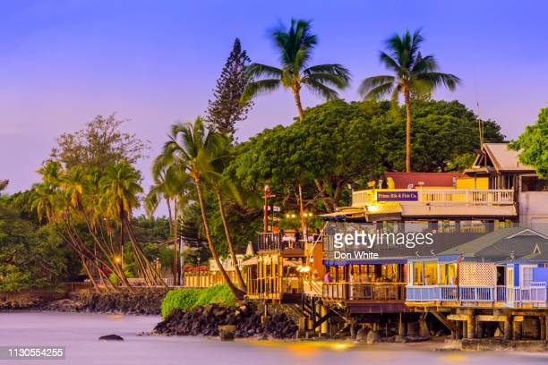 island of maui in hawaii - lahaina stock pictures, royalty-free photos & images