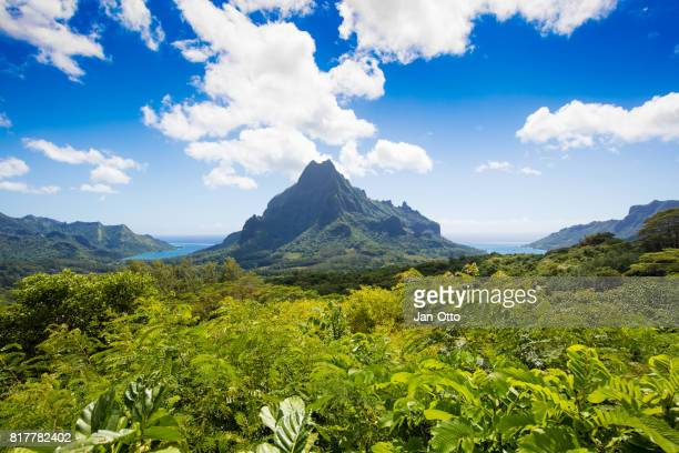 Island of Moorea with Mount Rotui, French Polynesia