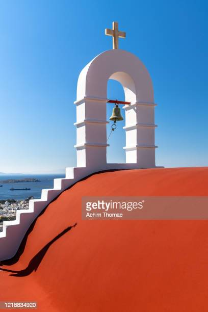 island of mykonos, greece, europe - kirche stock pictures, royalty-free photos & images
