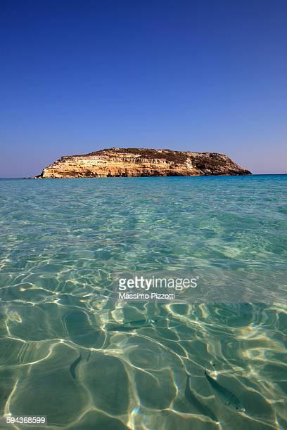 Island of Rabbits in Lampedusa