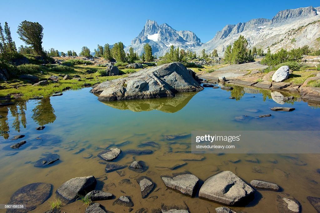 Island Pass / Banner Peak : Stock Photo